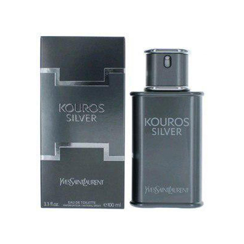 عطر مردانه ایو سن لورن مدل Kouros Silver حجم ۱۰۰ میلی لیتر