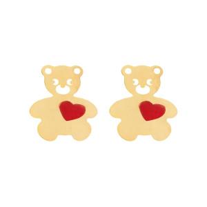 گوشواره طلا زنانه مدل خرس مهربان
