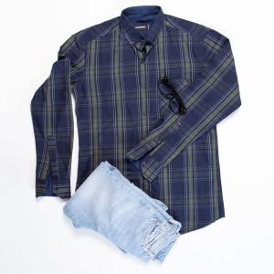 پیراهن نخی مردانه دیسکوارد کد EL 97
