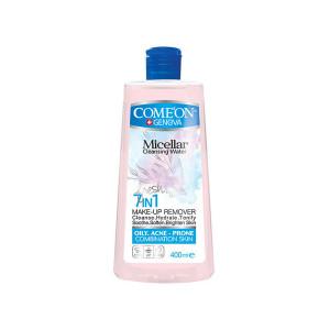 محلول پاک کننده آرایش صورت کامان مدل 7In1 - Oily Skin حجم 400 میلی لیتر