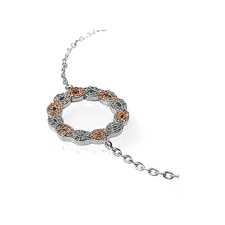 دستبند نقره زنانه اقلیمه کد DN439