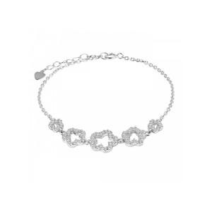 دستبند نقره زنانه اقلیمه کد DN457