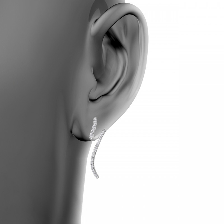 گوشواره نقره زنانه اقلیمه کد EN442