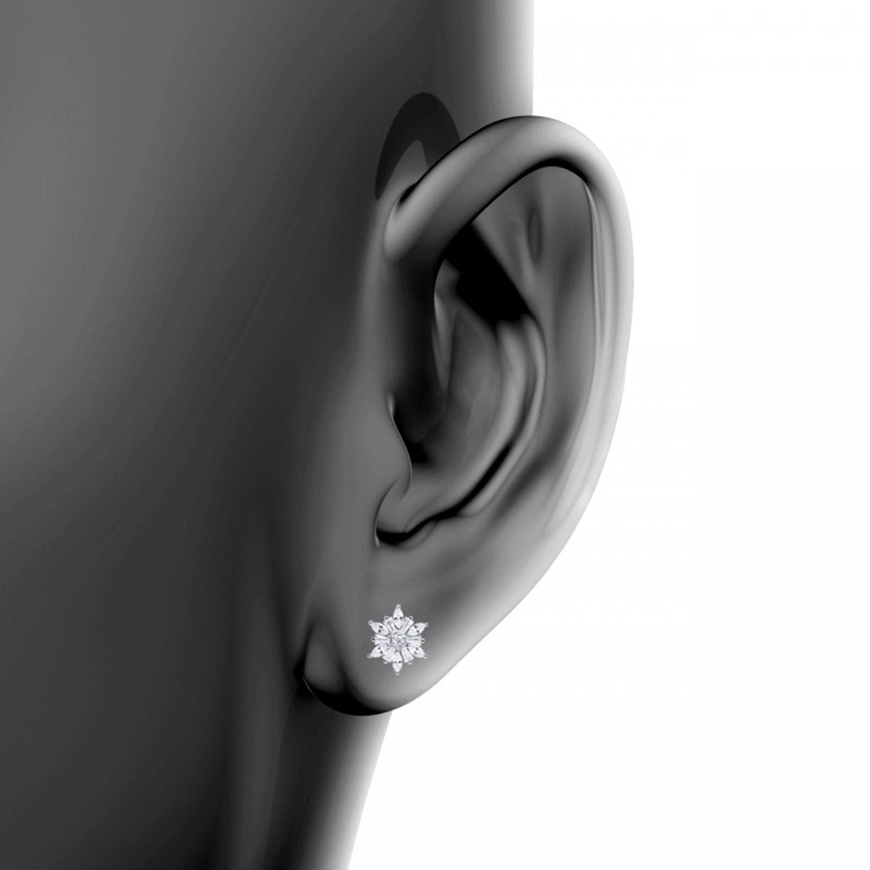 گوشواره نقره زنانه اقلیمه کد EN348