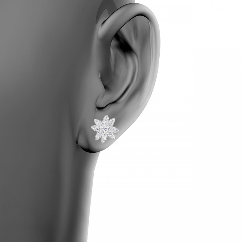 گوشواره نقره زنانه اقلیمه کد EN407