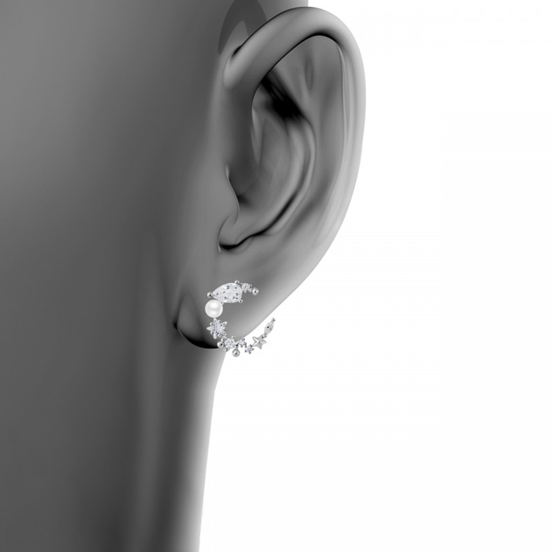گوشواره نقره زنانه اقلیمه کد EN467
