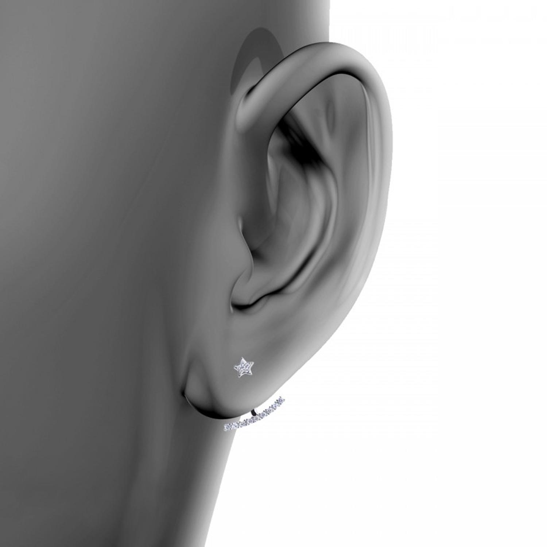 گوشواره نقره زنانه اقلیمه کد EN294