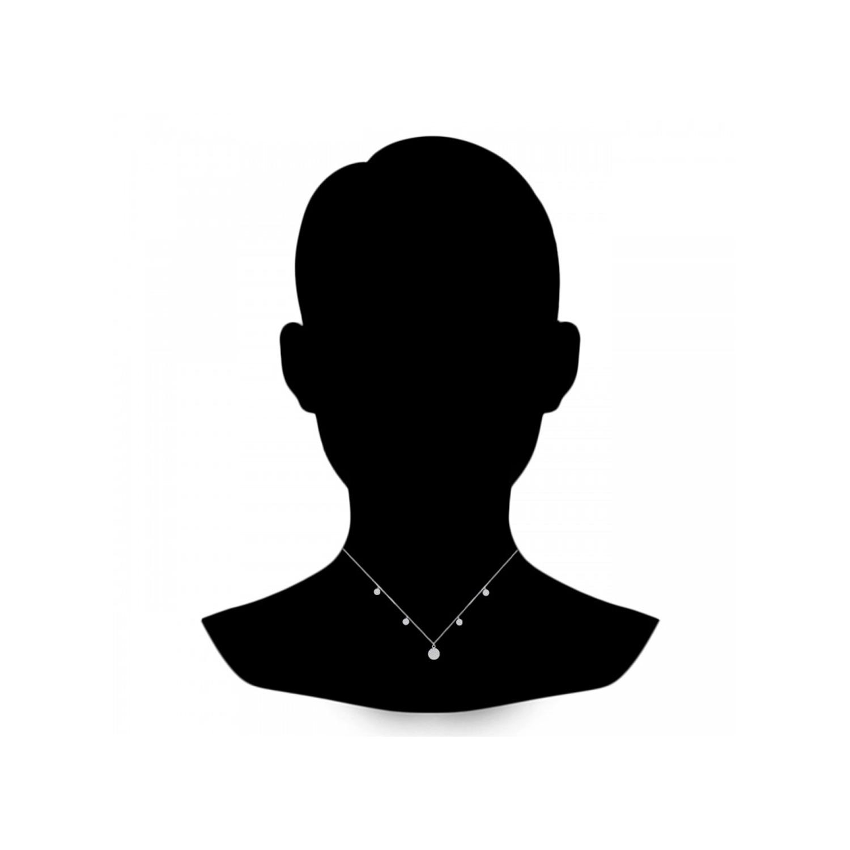 گردنبند نقره زنانه اقلیمه کد GN378