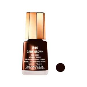 لاک ناخن ماوالا مدل Dark Brown شماره 249
