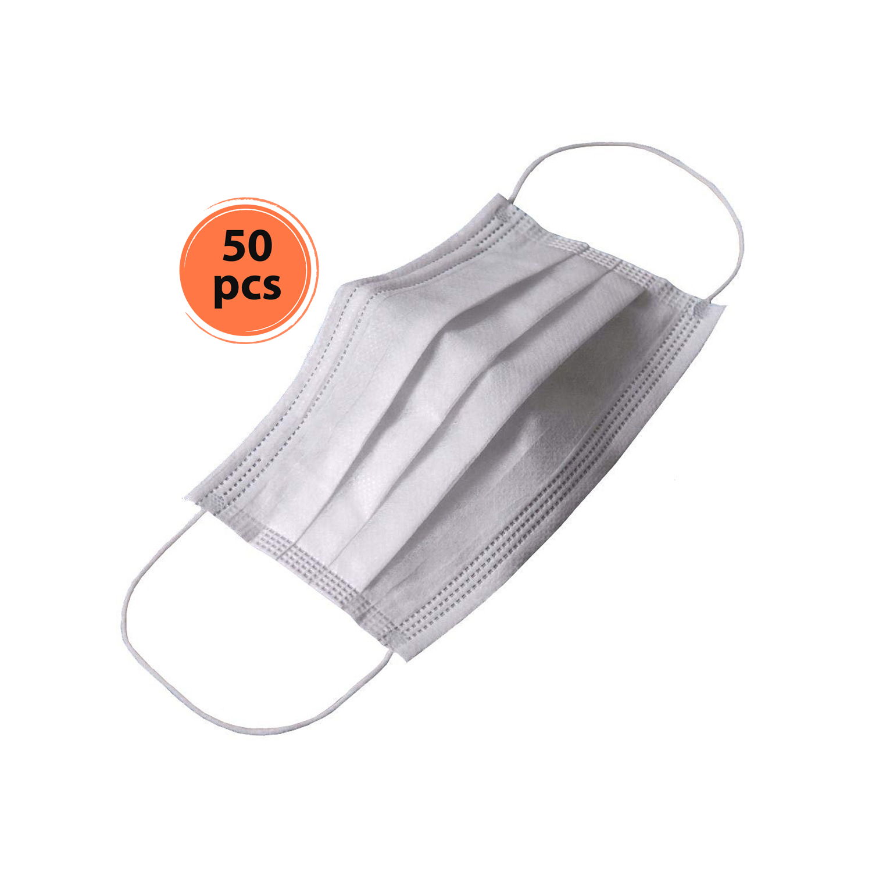 ماسک پزشکی سه لایه 50 عددی - سفید