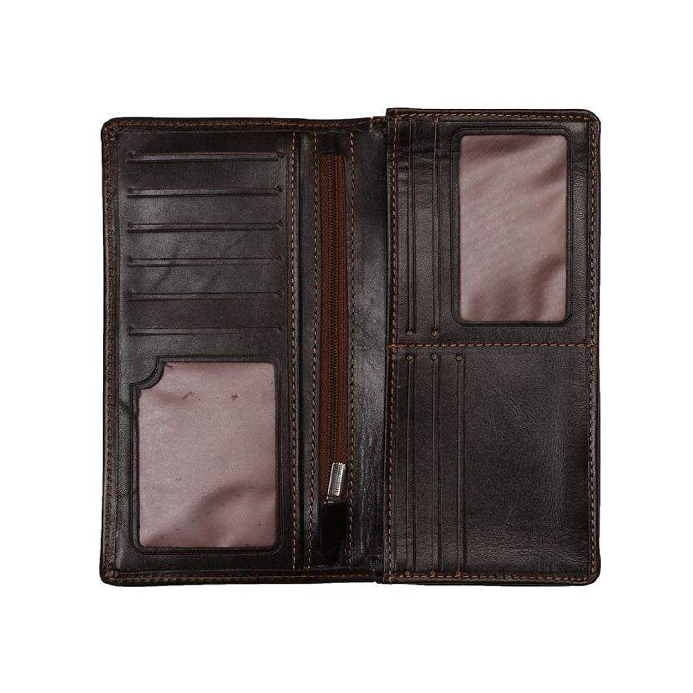 کیف پول چرم رویال چرم مدل M23-DarkBrown