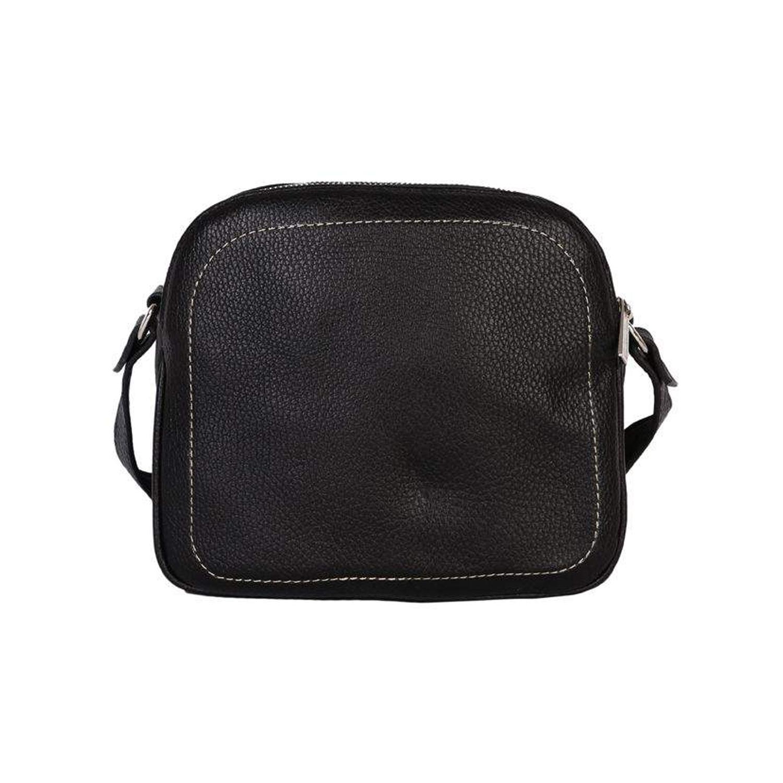 کیف دوشی چرم رویال چرم کد W61-Black