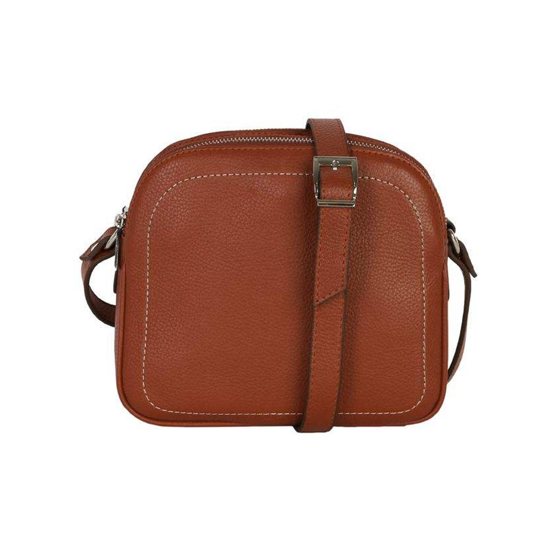 کیف دوشی چرم رویال چرم کد W61-Brown