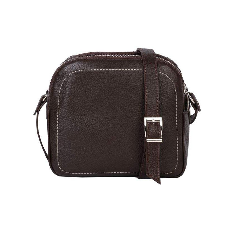کیف دوشی چرم رویال چرم کد W61-DarkBrown