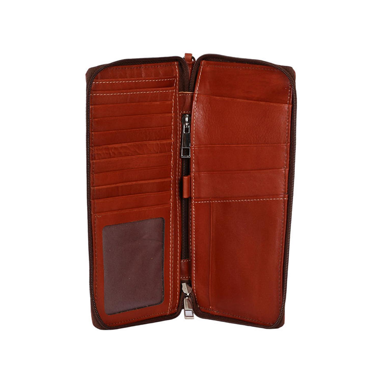 کیف پاسپورتی چرم رویال چرم کد P7-Brown