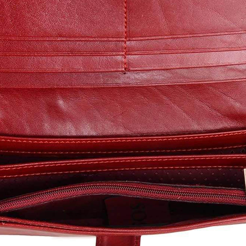 کیف پول چرم رویال چرم مدل W17-Crimson