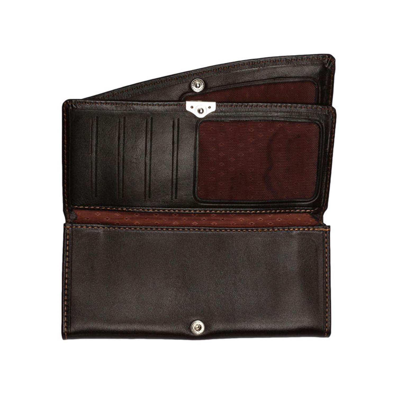 کیف پول چرم رویال چرم مدل W10-DarkBrown
