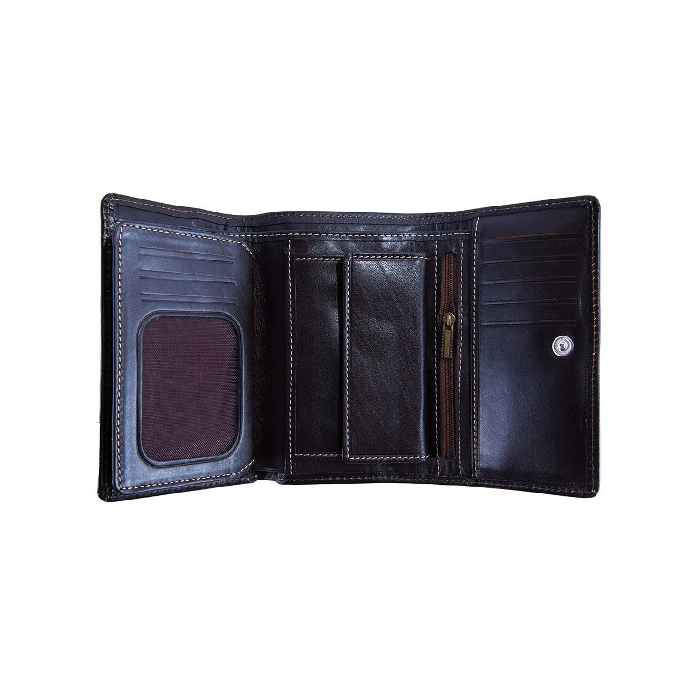 کیف پول چرم رویال چرم کد W16-DarkBrown