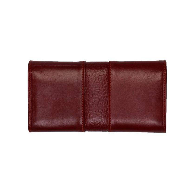 کیف پول چرم رویال چرم مدل W26-Crimson