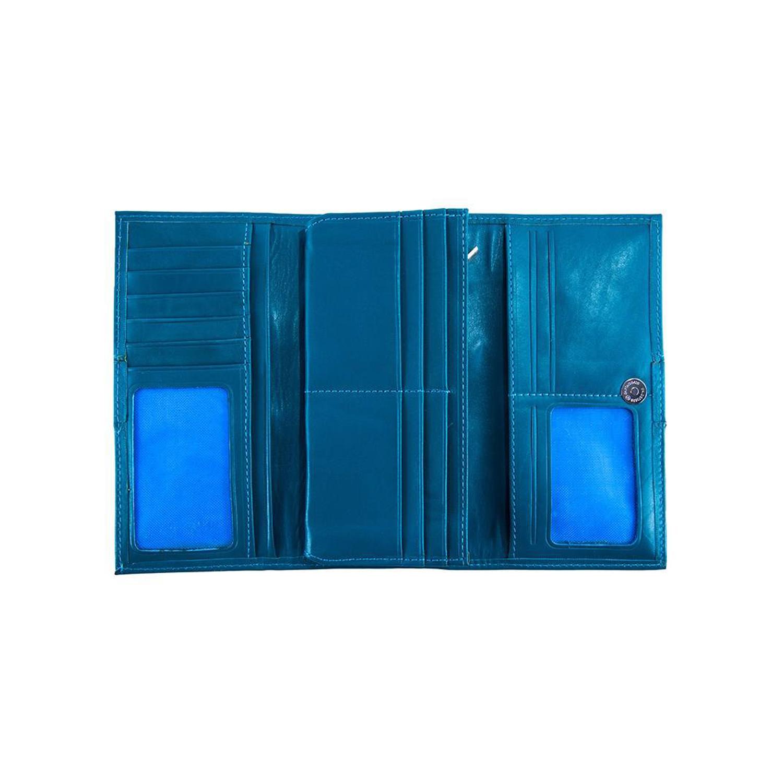 کیف پول چرم رویال چرم مدل W26-Turquoise