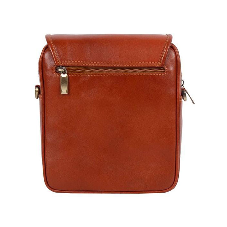 کیف دوشی چرم رویال چرم کد W4-Brown