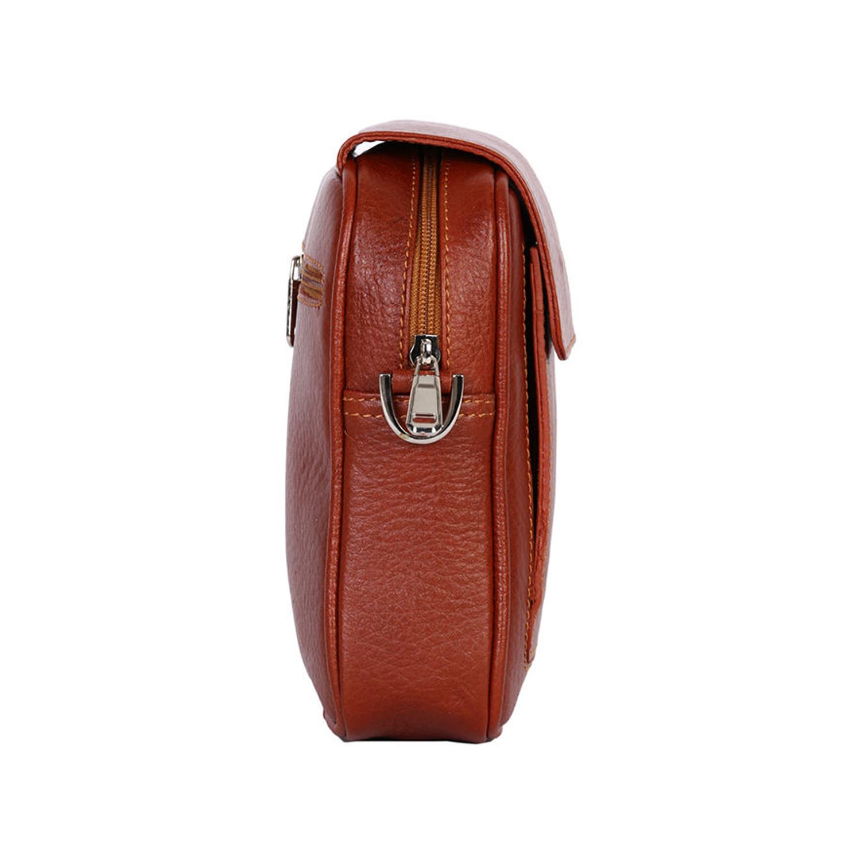 کیف دوشی چرم رویال چرم کد W55-Brown