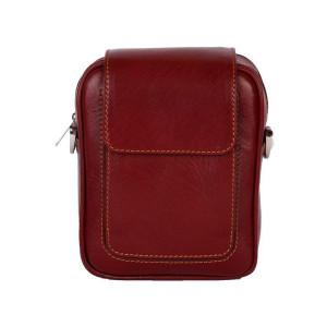 کیف دوشی چرم رویال چرم کد W55-Crimson