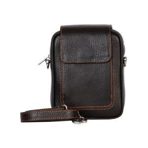 کیف دوشی چرم رویال چرم کد W55-DarkBrown