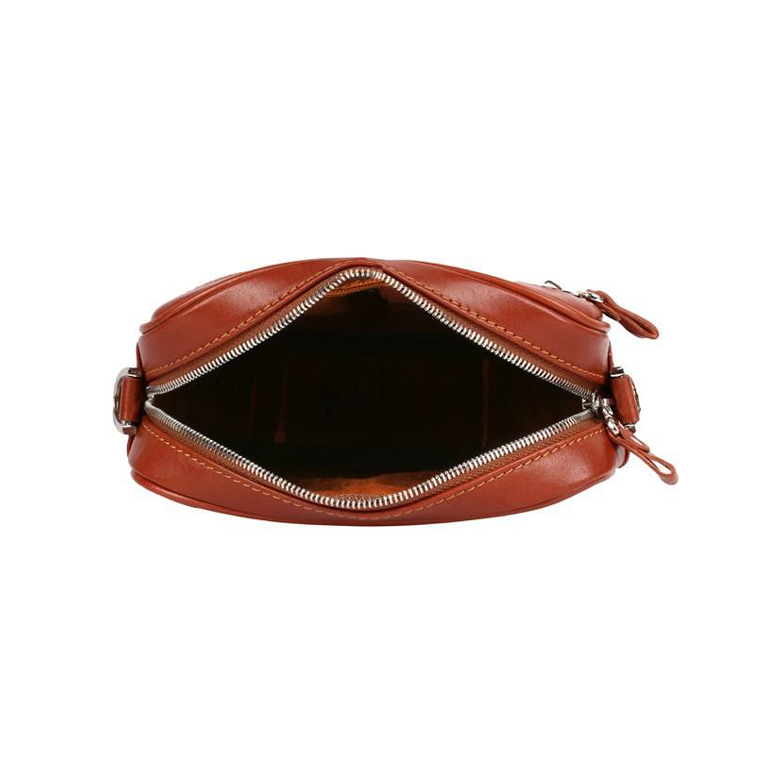 کیف دوشی چرم رویال چرم کد W58-Brown
