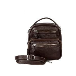 کیف دوشی چرم رویال چرم کد W59-DarkBrown