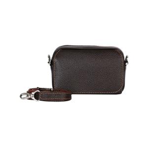 کیف دوشی چرم رویال چرم کد W60-DarkBrown