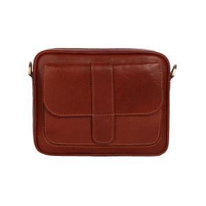 کیف دوشی چرم رویال چرم مدل W6-Brown
