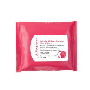 دستمال مرطوب پاک کننده آرایش لافارر کد 2 بسته 20 عددی