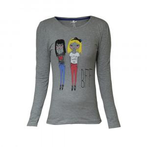 تی شرت آستین بلند دخترانه مدل دو دختر