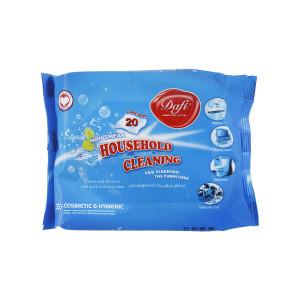 دستمال مرطوب دافی مدل Household Cleaning بسته 20 عددی