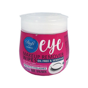 دستمال مرطوب پاک کننده آرایش چشم دافی بسته 45 عددی