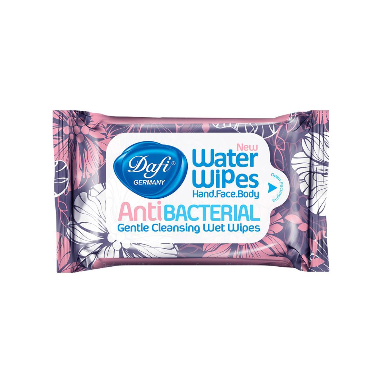 دستمال مرطوب پاک کننده دست و صورت دافی مدل Anti Bacterial طرح گل بسته 12 عددی