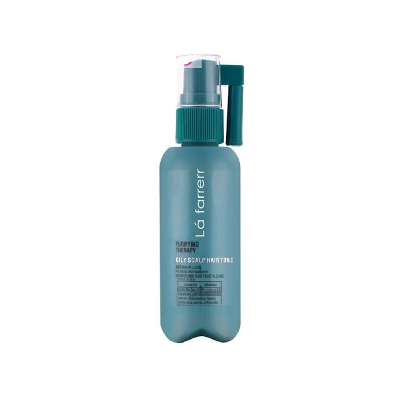 تونیک تقویتی موی سر و ابرو لافارر مخصوص موهای چرب و کدر حجم 60 میلی لیتر