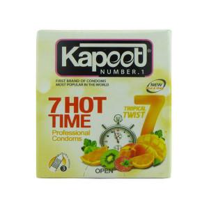 کاندوم کاپوت مدل 7Hot Time بسته 3 عددی