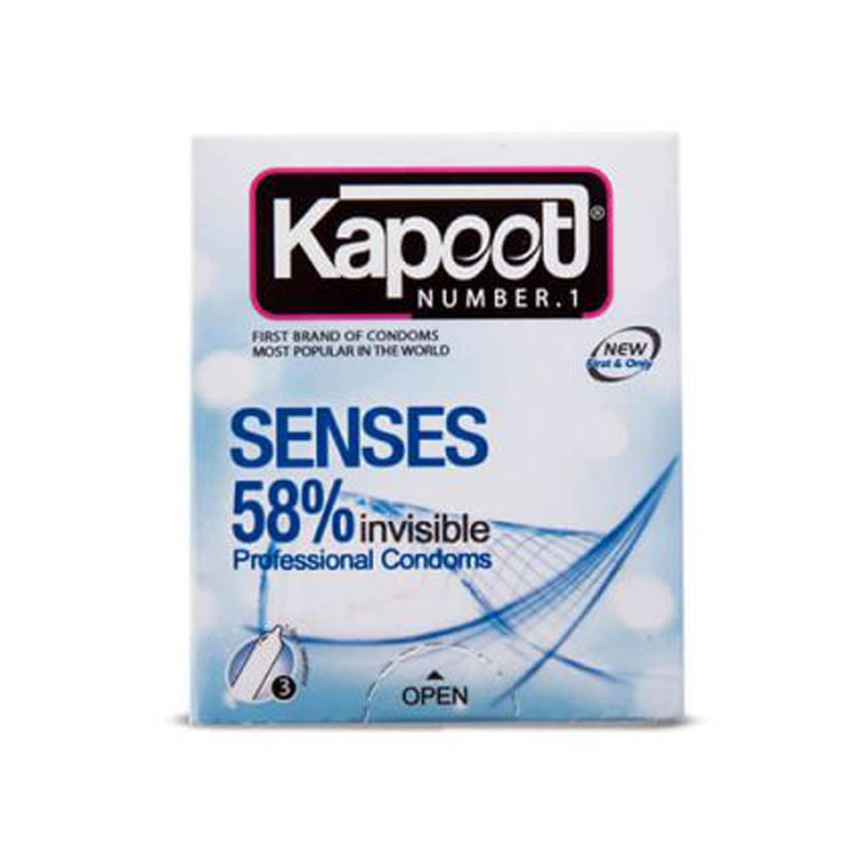 کاندوم کاپوت مدل Sense 58% بسته 3 عددی