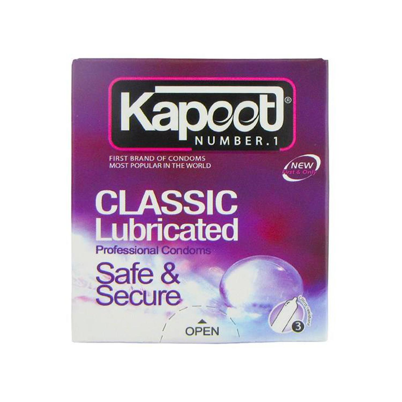 کاندوم کاپوت مدل Classic Lubricanted بسته 3 عددی