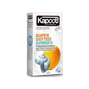 کاندوم کاپوت مدل Super Dotted And Ribbed بسته 12 عددی