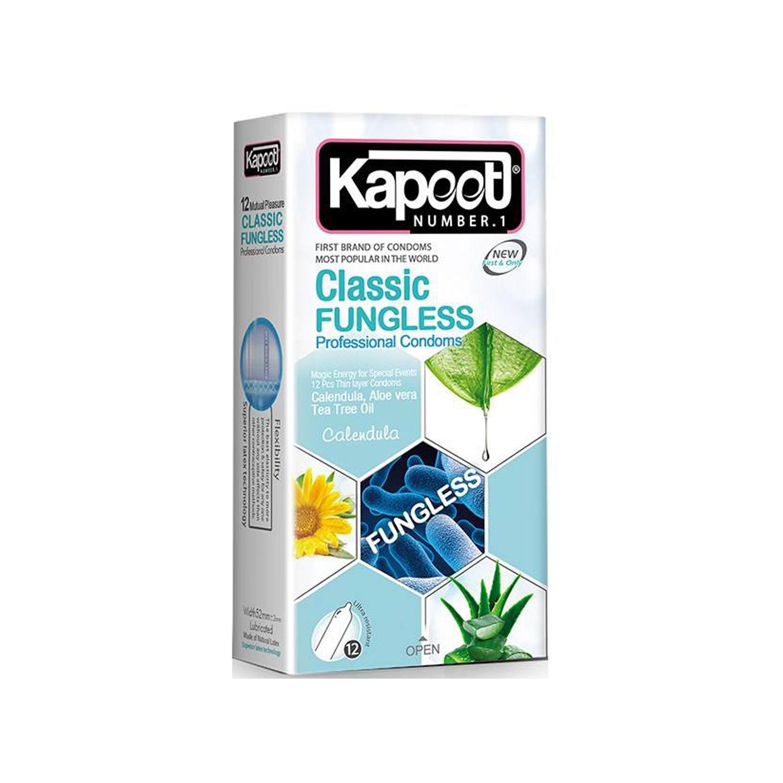 کاندوم کاپوت مدل Classic Fungless بسته 12 عددی