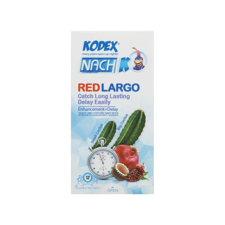 کاندوم کدکس مدل Red Largo بسته 12 عددی