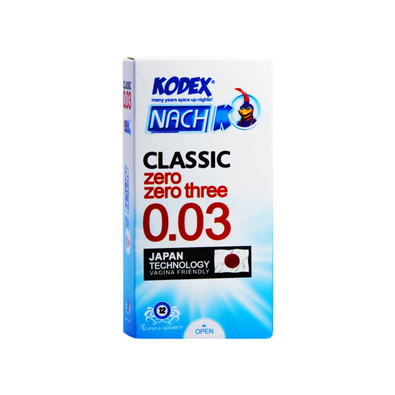 کاندوم کدکس مدل Classic 0.03 بسته 12 عددی