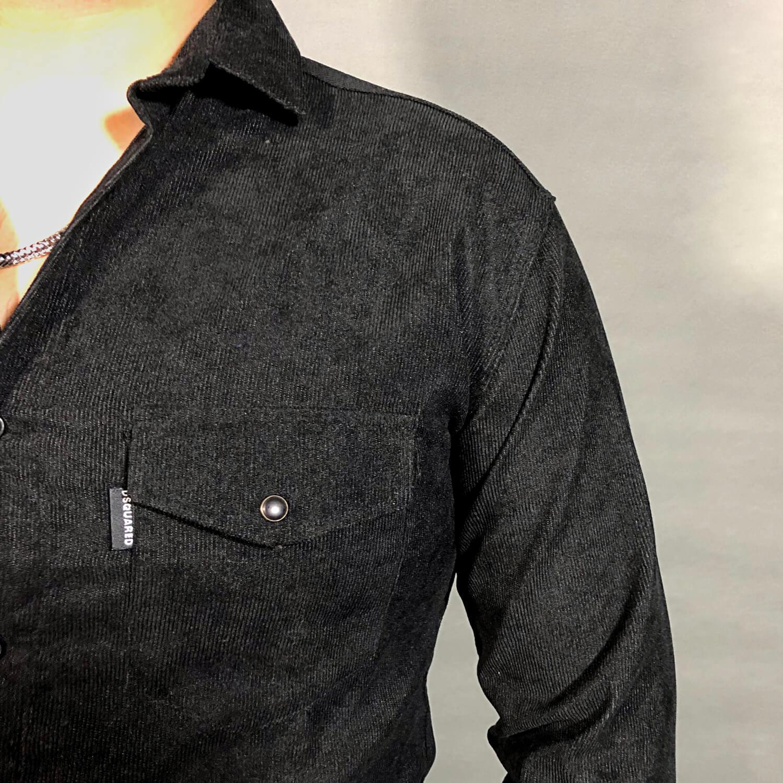 پیراهن مخمل کبریتی مردانه کد 102