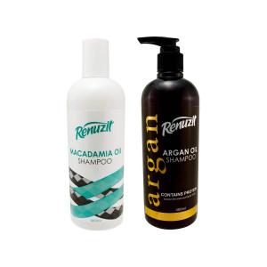 شامپو رینوزیت مدل Argan Oil به همراه شامپو رینوزیت مدل Macadamia Oil حجم 400 میلی لیتر