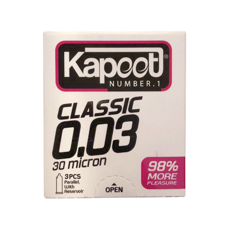 کاندوم کاپوت مدل 30 میکرون بسته 3 عددی