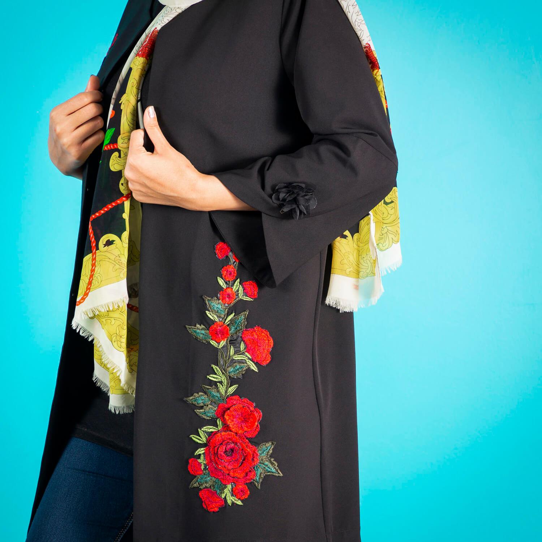 مانتو کرپ زنانه مانتو ولیعصر مدل ساینا کد 60401