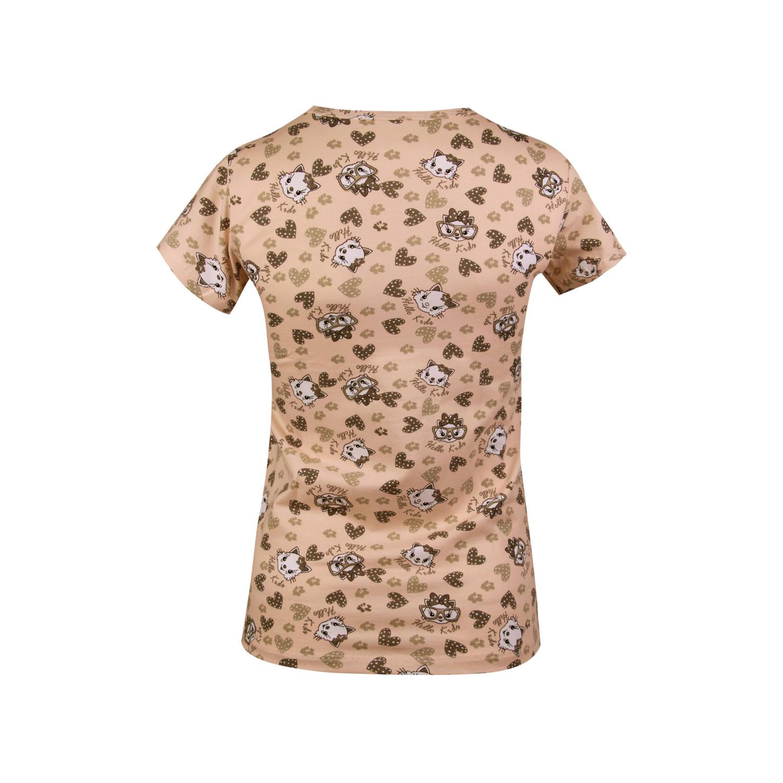 ست تی شرت و شلوار نخی دخترانه کوزا مدل 3578-3-GOL